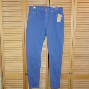 Michael Kors Blue Izzy Skinny Mid Riise Jeans